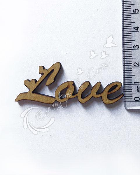 APLIQUE MDF JOIA LOVE APL388 3mm