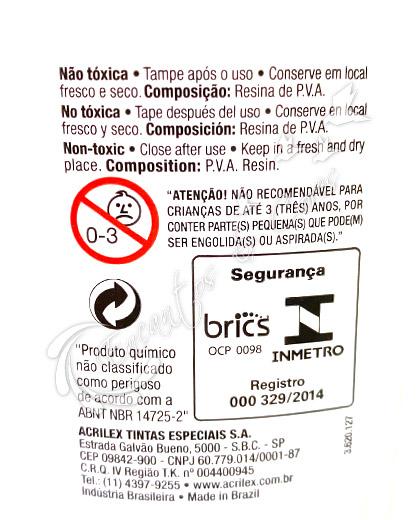 COLA BRANCA ACRILEX 100G