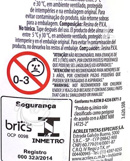 COLA BRANCA ACRILEX 500G
