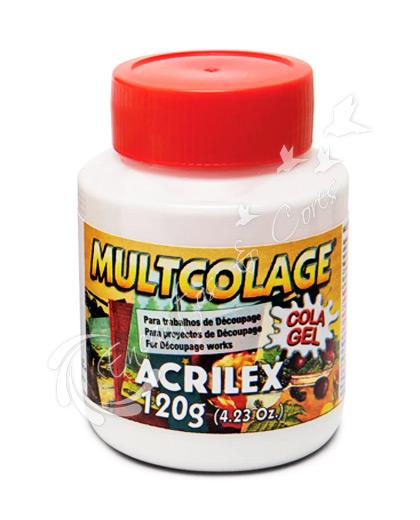 COLA DECOUPAGE GEL MULTICOLAGE ACRILEX 120G