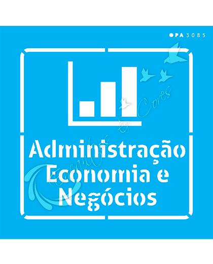 STENCIL 14X14 OPA 3085 PROFISSÕES ADMINISTRAÇÃO