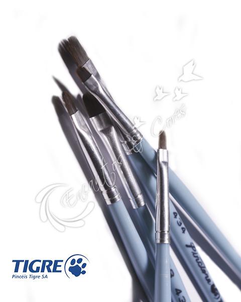 PINCEL LINGUA DE GATO TIGRE REF 434