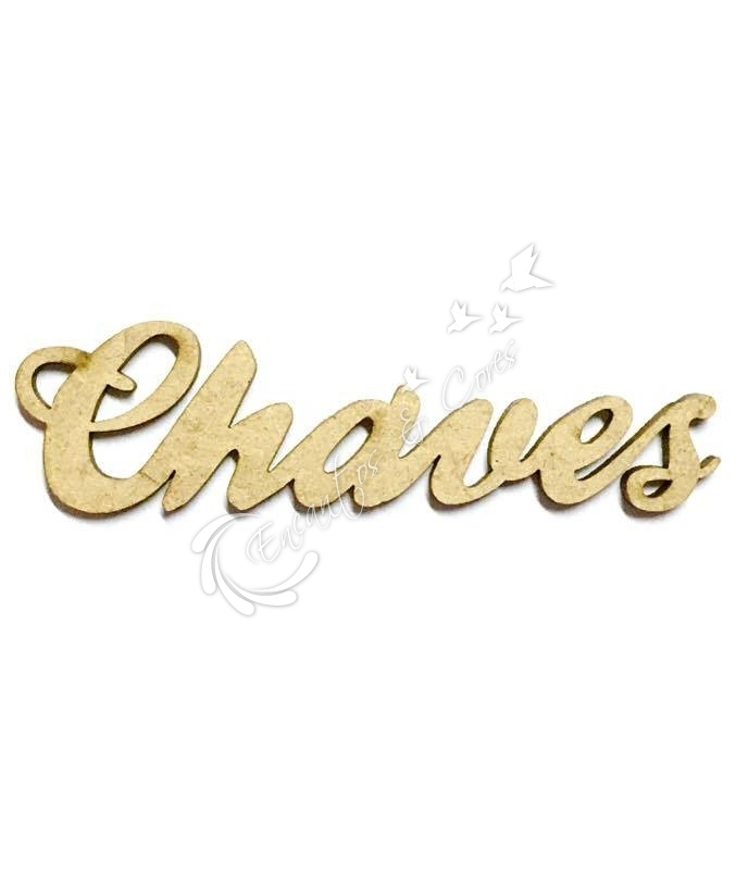 APLIQUE MDF CHAVES 3mm