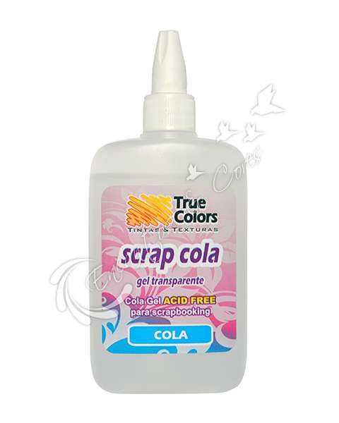 COLA SCRAP GEL TRUE COLORS TRANSPARENTE 90 ML