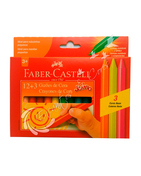 GIZAO CERA FABER-CASTELL 15 CORES