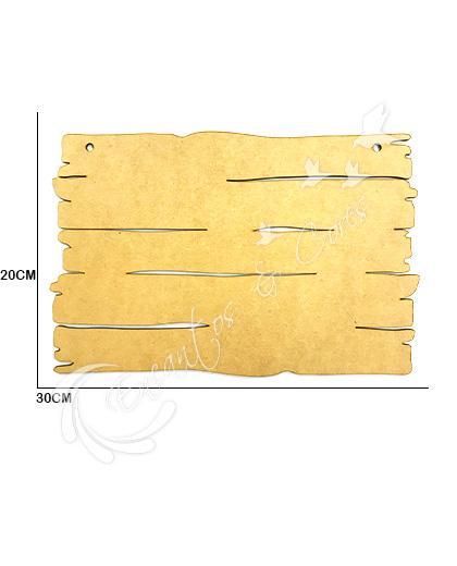 PLACA RÚSTICA RETÂNGULAR EM MDF 3MM ECM041