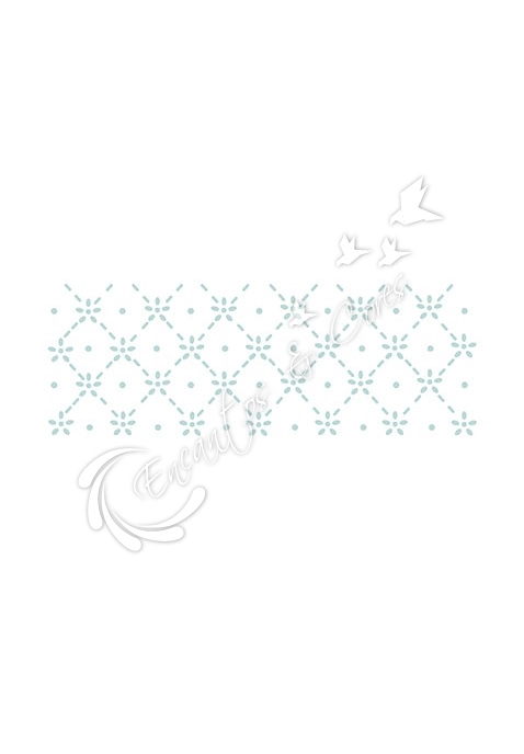 STENCIL LITOARTE STP-046 RENDA ESTAMPARIA MINI FLOR