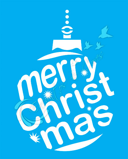 STENCIL LITOCART LSNG-012 FRASE MERRY CHRISTMAS
