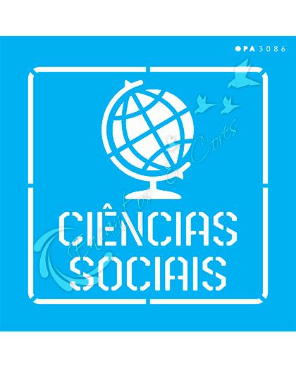 STENCIL 14X14 OPA 3086 PROFISSÕES CIÊNCIAS SOCIAIS