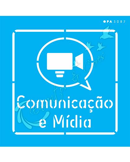 STENCIL 14X14 OPA 3087 PROFISSÕES COMUNICAÇÃO E MÍDIA