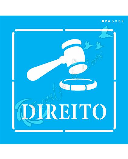 STENCIL 14X14 OPA 3089 PROFISSÕES DIREITO