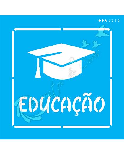 STENCIL 14X14 OPA 3090 PROFISSÕES EDUCAÇÃO