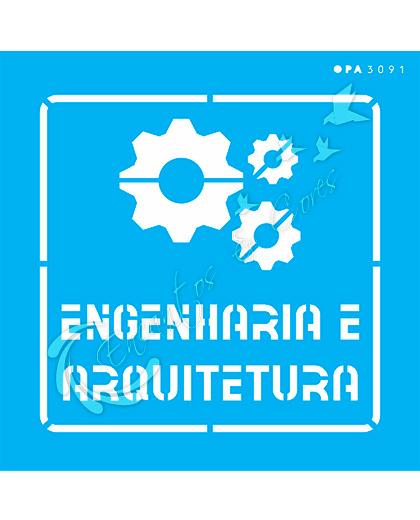STENCIL 14X14 OPA 3091 PROFISSÕES ENGENHARIA E ARQUITETURA