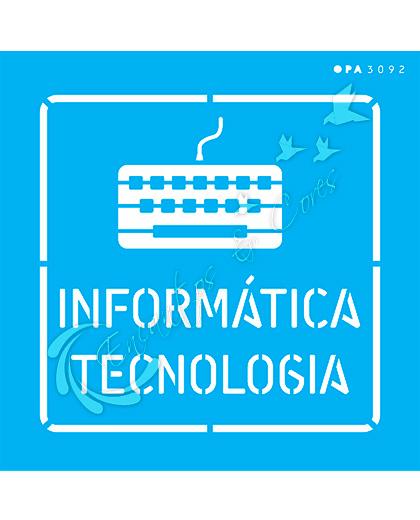 STENCIL 14X14 OPA 3092 PROFISSÕES INFORMATICA TECNOLOGIA