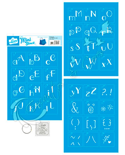 STENCIL LT MINI KIT STMI2-001 ALFABETO 1