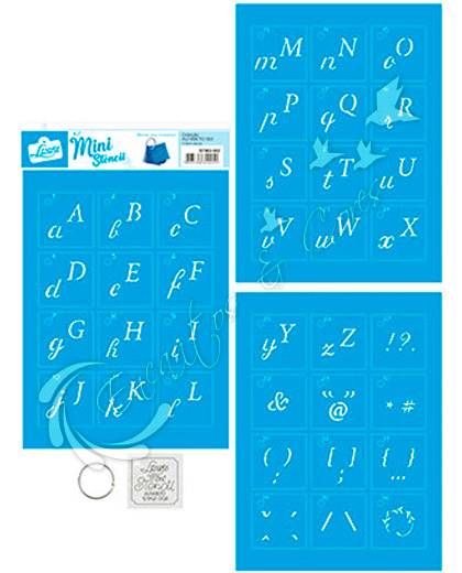 STENCIL LT MINI KIT STMI2-002 ALFABETO 2