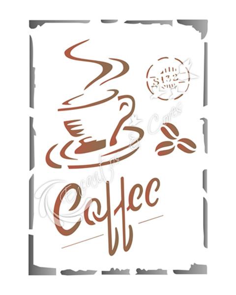 STENCIL OPA COFFEE (OPA 1753)