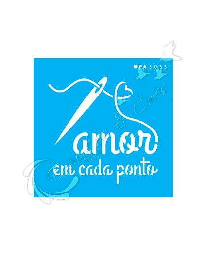 STENCIL OPA FRASE AMOR EM CADA PONTO ( OPA3033 )