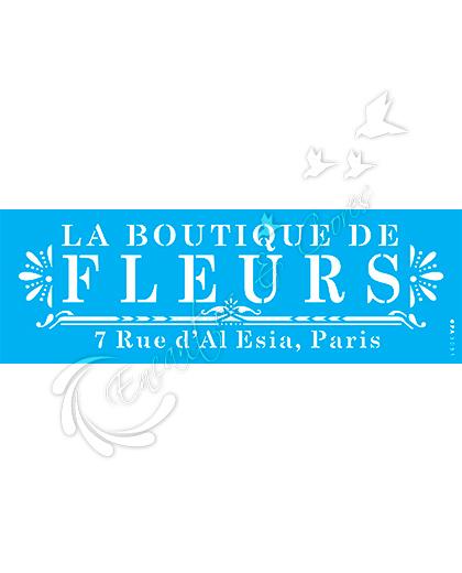 STENCIL OPA FRASE LABOUTIQUE DE FLEURS ( OPA 3031 )