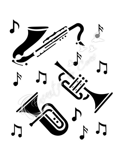 STENCIL OPA INSTRUMENTOS MUSICAIS 426