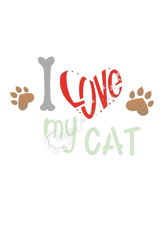 STENCIL OPA LOVE CAT (OPA 2209)