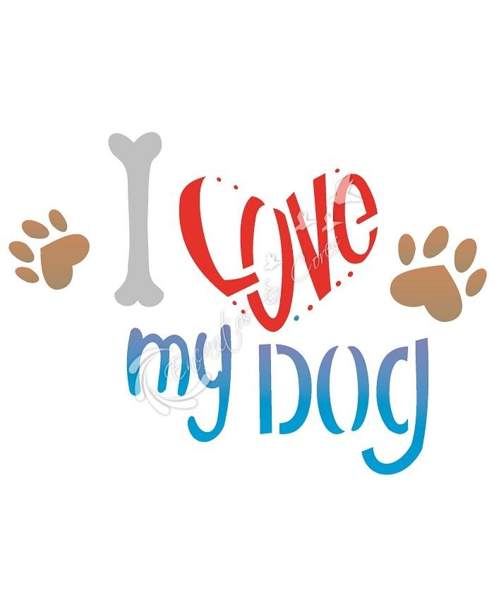 STENCIL OPA LOVE DOG (OPA 2171)