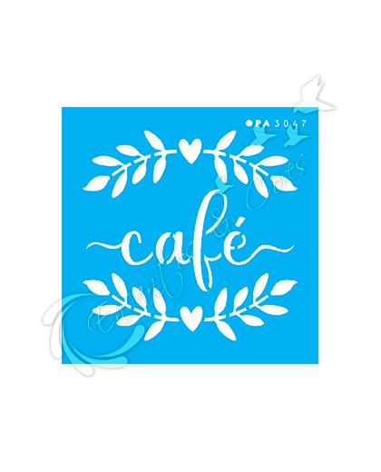 STENCIL OPA PALAVRA CAFÉ ( OPA 3047 )