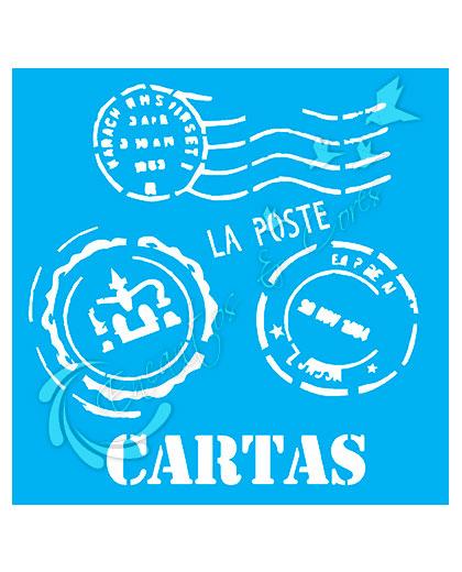 STENCIL OPA SELO CARTAS (OPA 1135)