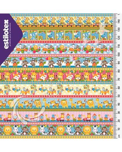 TECIDO ESTILOTEX 55058 - SAFARI FAIXAS I 1MT