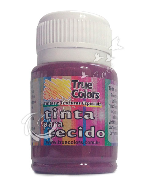 TINTA TECIDO TRUE COLORS CARMIM REAL 37 ML REF 31003