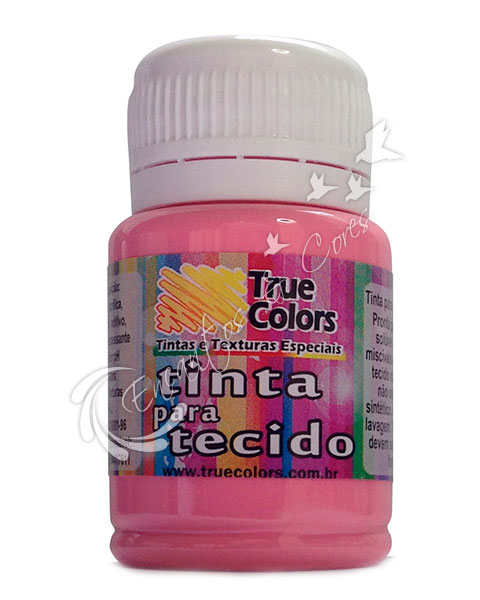TINTA TECIDO TRUE COLORS ROSA PETALA 37 ML REF 31049